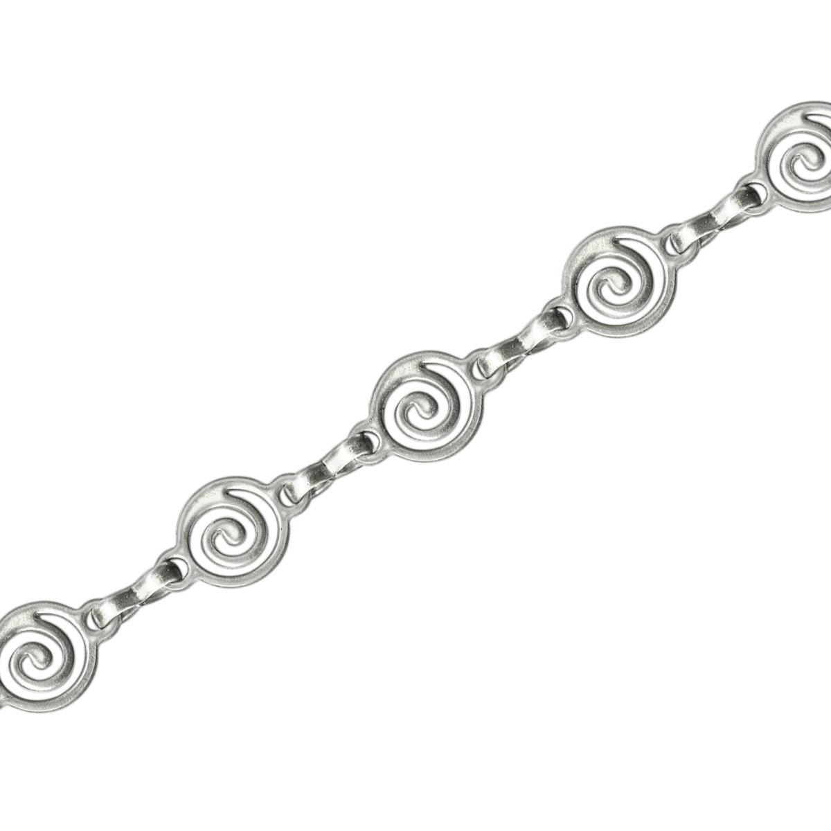 White Plated Spiral Link Chain Spool, Footage
