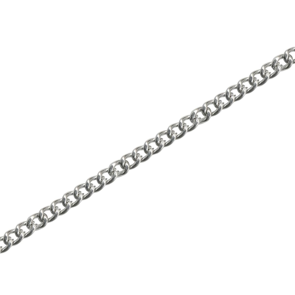 Stainless Steel Endless Curb Chain Necklace, 27
