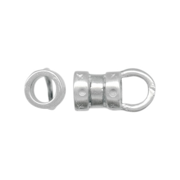 Jbb Findings Silver Plated Center Crimp Tube With Loop 3