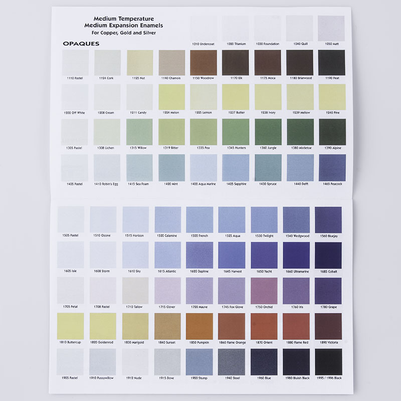 Thompson Enamels Color Chart Learn More Related Products