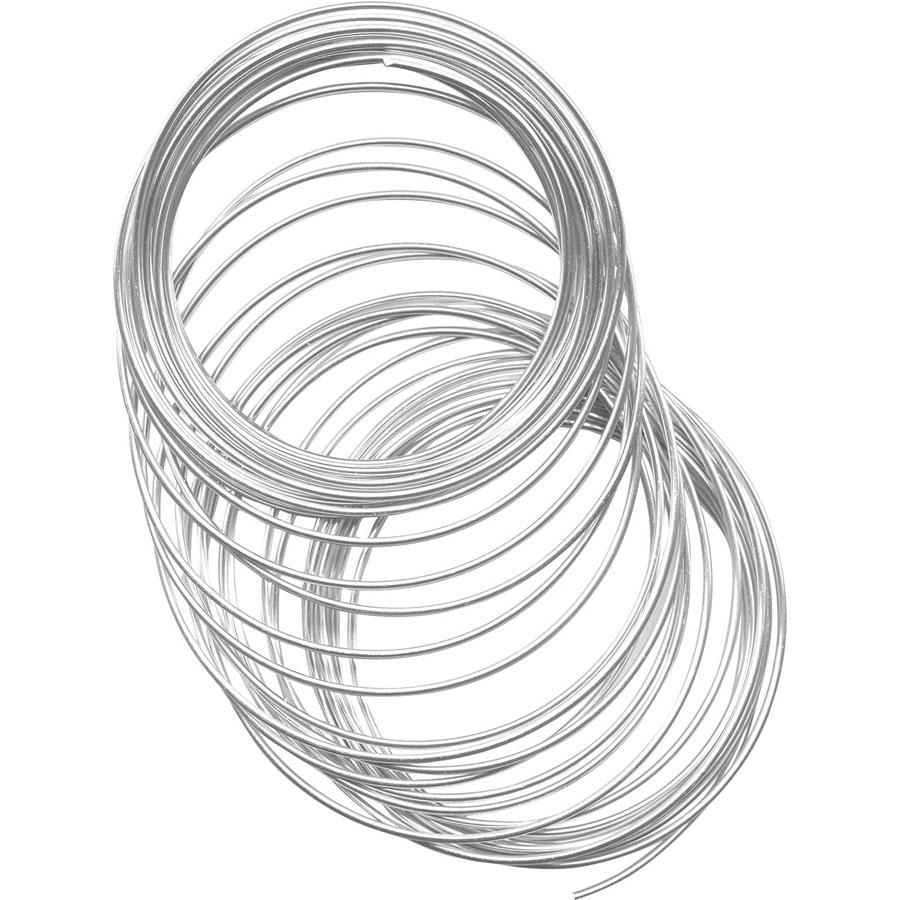 Aluminum Craft & Jewelry Wire, 2mm, 12 meters - Silver Color