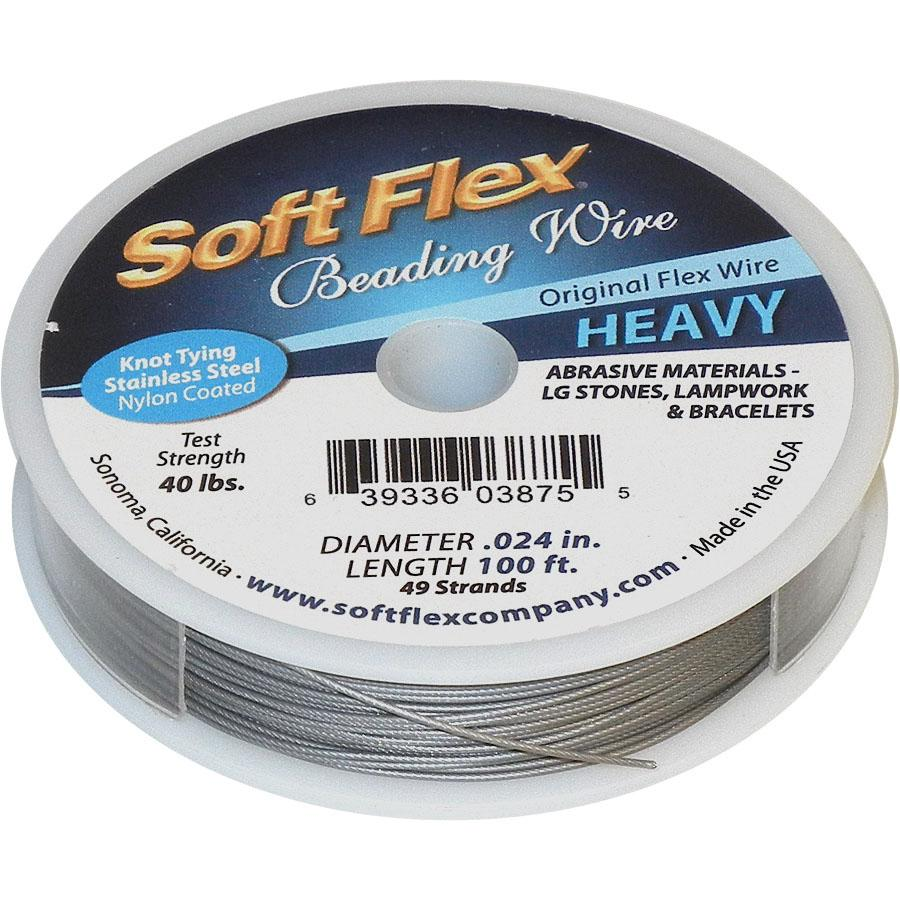 Soft Flex Stainless Steel Beading Wire, 0.024\