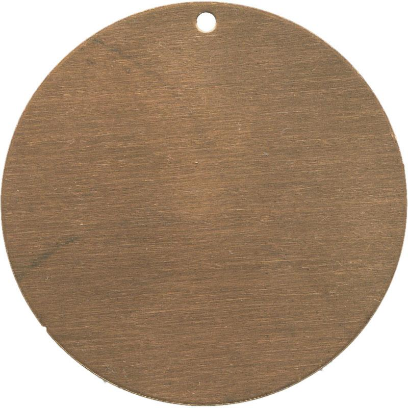 Vintaj Natural Brass Blank Round 34mm