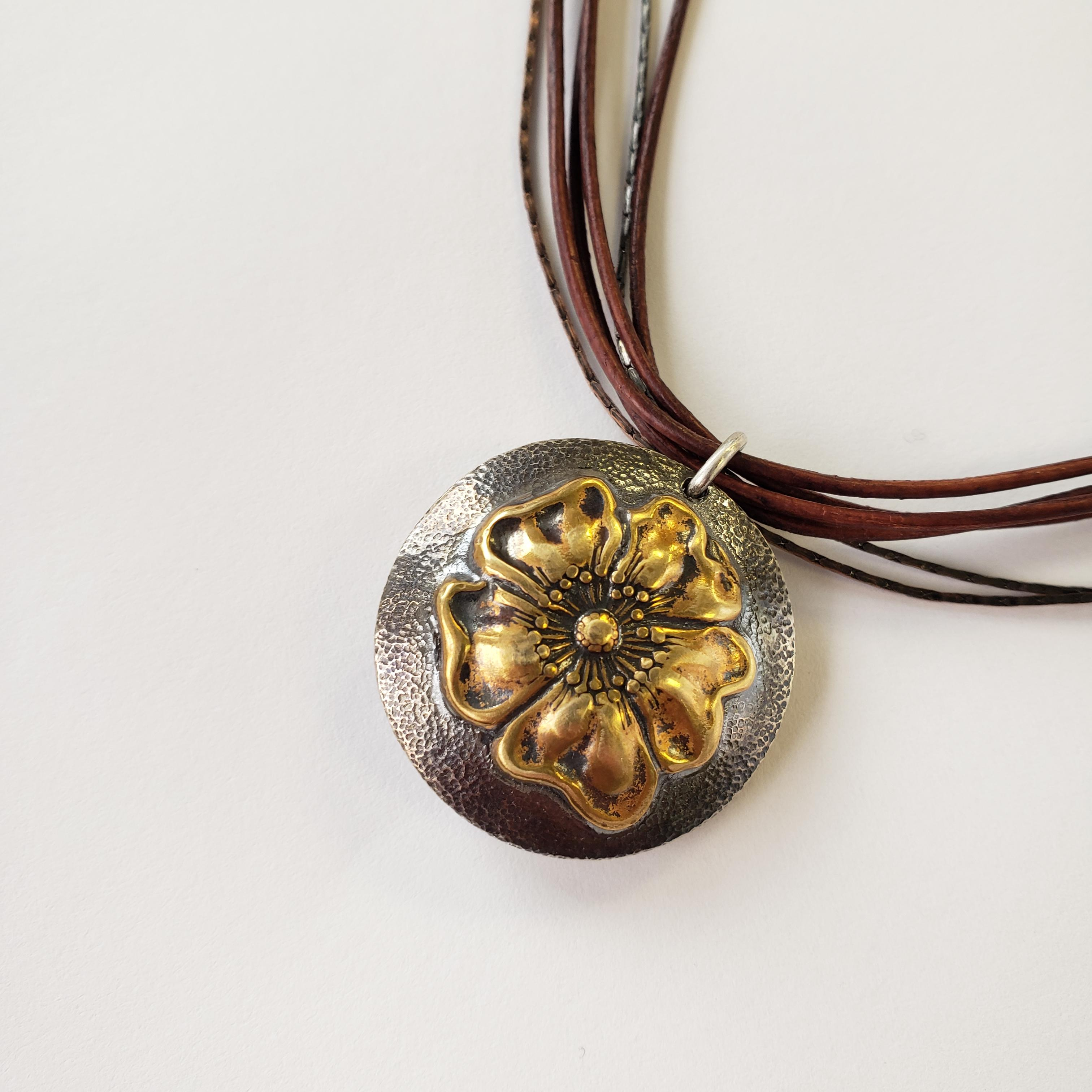 Sterling Silver Puffed Lentil Pendant, Intermediate Class, October 16th, 2021, 10:30am-3:30pm